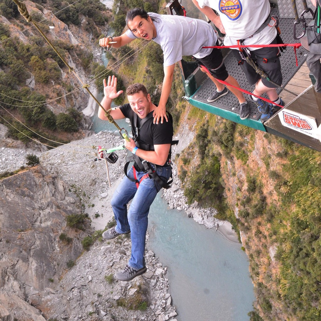My Year in Travel 2016, Queenstown, New Zealand, canyon swing, Lee Abbamonte