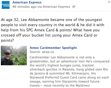 AMEX Cardmember Spotlight