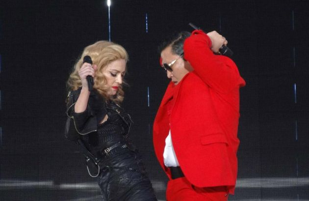 Madonna and Psy Sing Gangnam Style Together on Stage