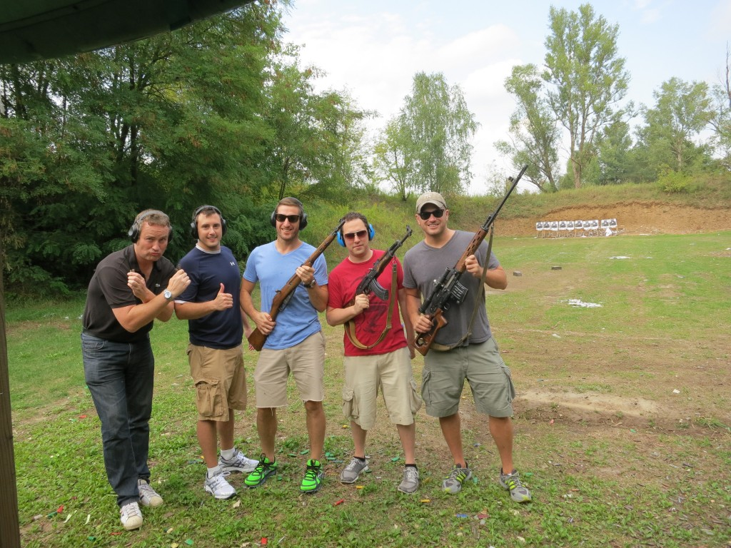 Mike's Bachelor Party in Kiev, Ukraine...doing some shooting