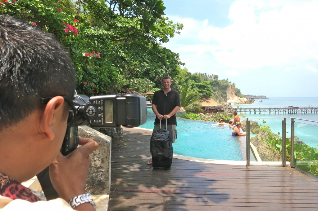 Doing a photo shoot in Bali, Indonesia
