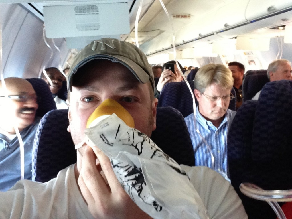 On the plane after the oxygen masks came down