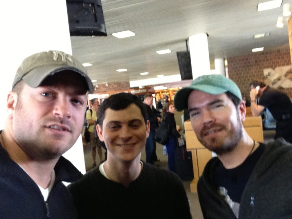 Me, Matt and Mike in the airport in Charleston