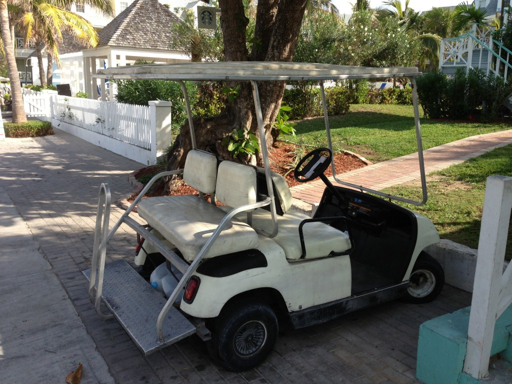 Bahamas, The Bahamas, Harbour Island, Harbor Island, island, Dunmore Hotel, Pink Sands Beach, Caribbean, travel, golf cart, golf, beach