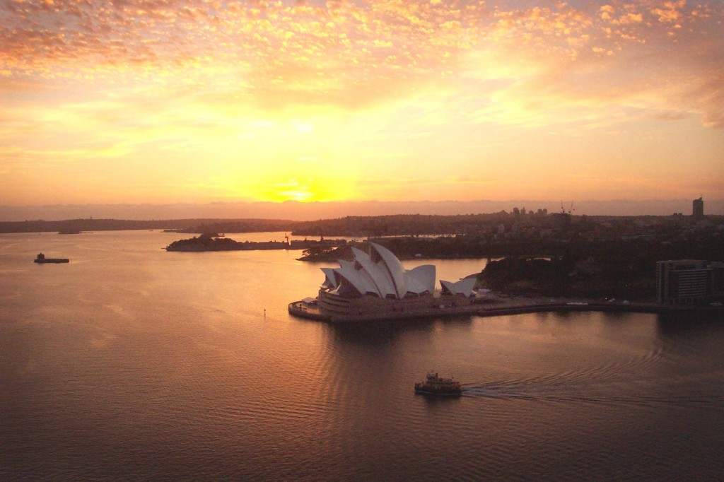 BridgeClimb Sydney, Sydney, Sydney Harbour Bridge, Australia, Opera House at dawn