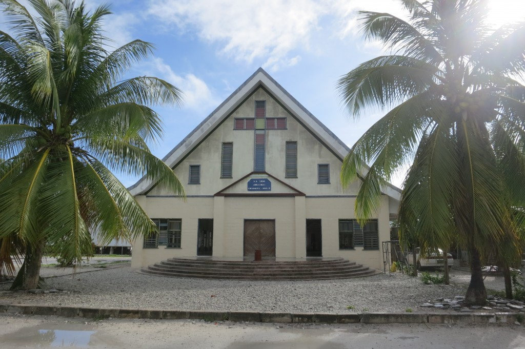 Kiritimati, Kiribati, Christmas Island, travel, Fiji, Air Pacific, church