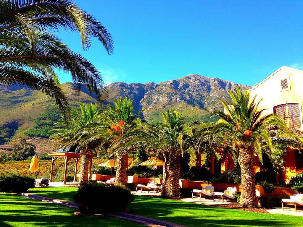 Franschhoek, vineyards, luxury, La Residence Hotel, view, mountains, South Africa, Western Cape, Cape Wine Lands, small town, Africa