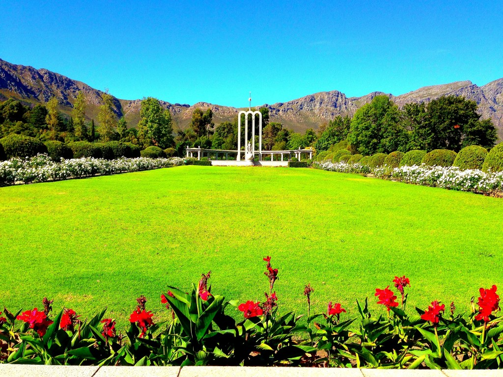Franschhoek, Huguenots, Huguenot Memorial, France, vineyards, La Residence Hotel, view, mountains, South Africa, Western Cape, Cape Vineyards, small town, Africa