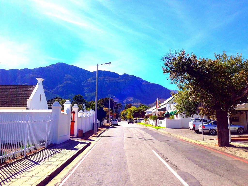 Franschhoek, vineyards, La Residence Hotel, view, mountains, South Africa, Western Cape, Cape Wine Lands, small town, Africa