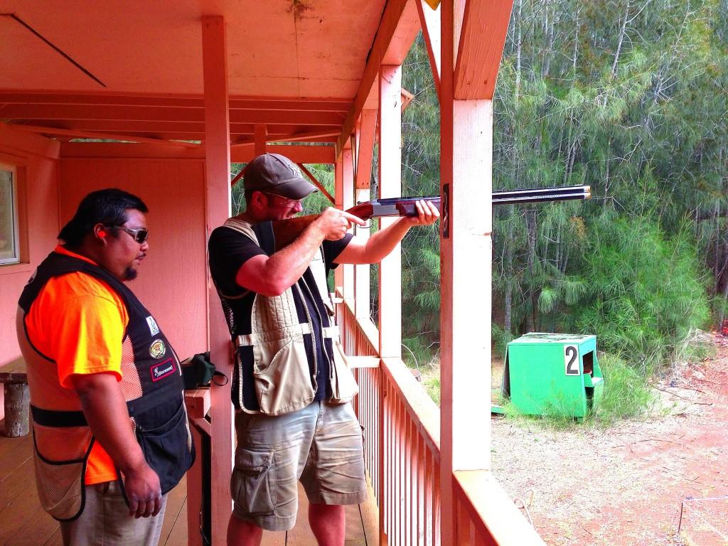 Lanai, Hawaii, skeet shooting