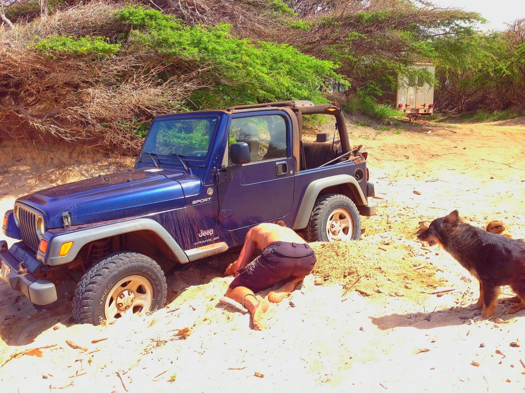 Lanai, offroading, Shipwreck Beach, Polihua Beach, Hawaii, Pacific Ocean, Hawaiian Islands, jeep