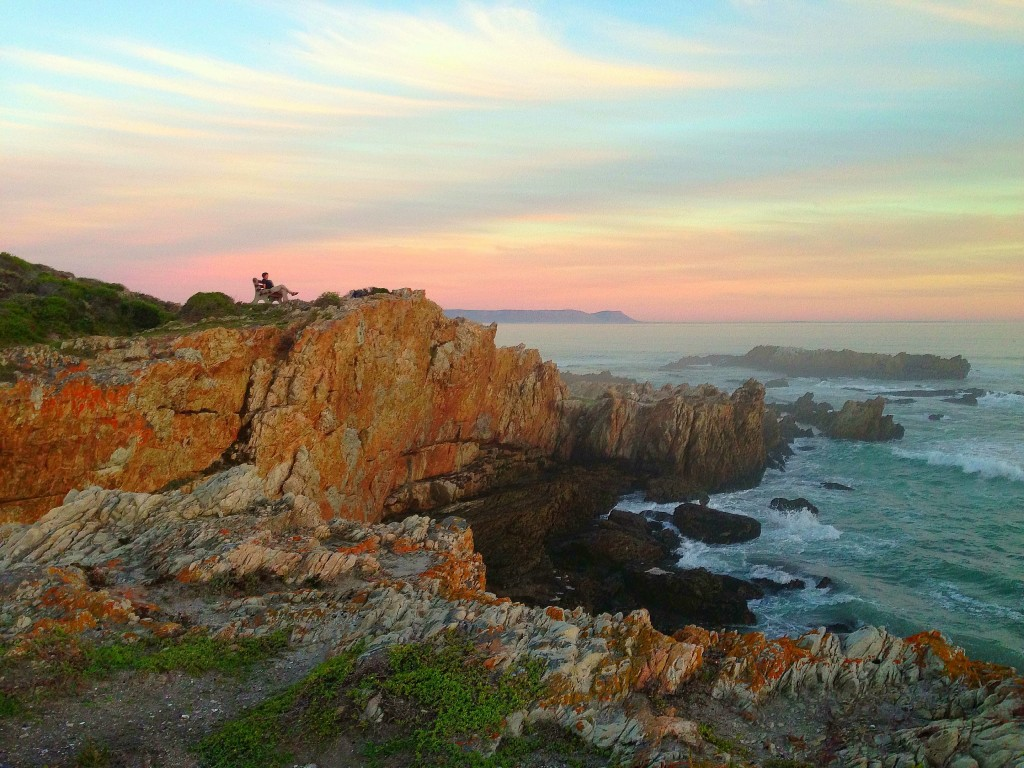 Hermanus, South Africa, Western Cape, Whale Walk, Whale Watching, Africa, Southern Africa, sunset