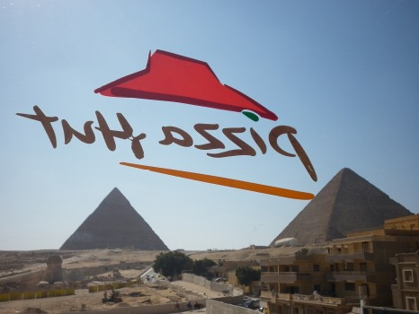 Pyramids, Egypt, Giza, Pizza Hut