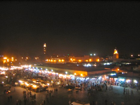 Marrakech, Morocco, night market