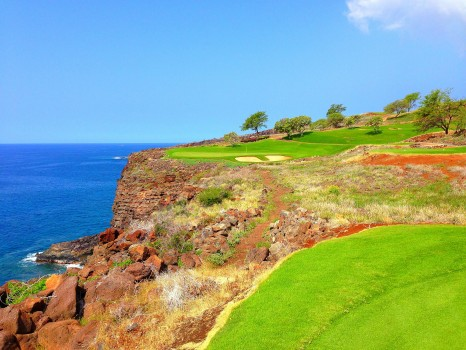 Golf, Lanai, Challenge at Manele Bay, Four Seasons at Manele Bay, Four Seasons, Hawaii, Bill Gates wedding, Bill Gates, 12th hole at Manele Bay