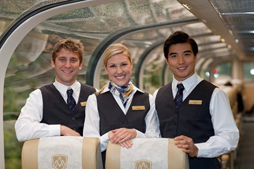 Goldleaf service, Rocky Mountaineer, train, Canada, Vancouver, Jasper, British Columbia, Alberta