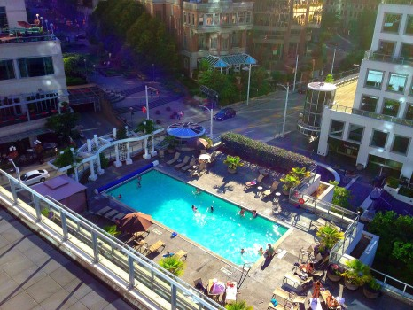 Fairmont Waterfront, pool, Vancouver