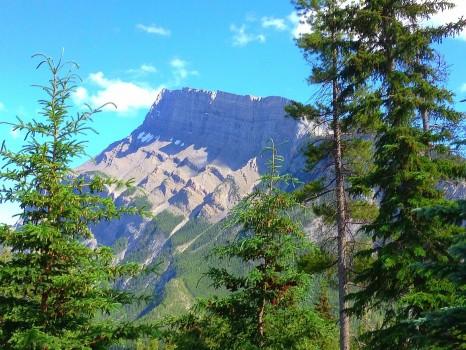 View from the Buffalo Mountain Lodge, Banff, Alberta, Canada