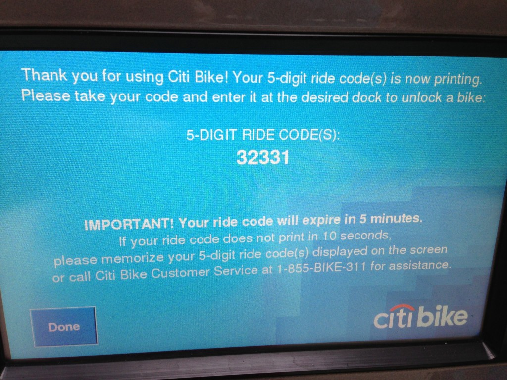 Citi Bike code, unlock bike, New York