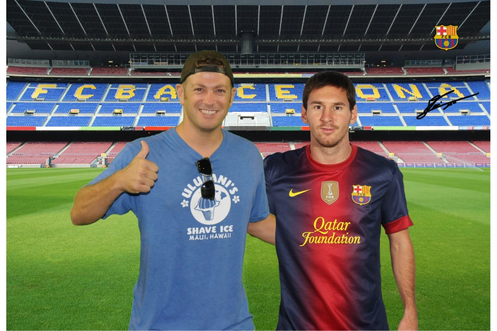 Lionel Messi, Lee Abbamonte, Camp Nou Experience, Camp Nou, FC Barcelona