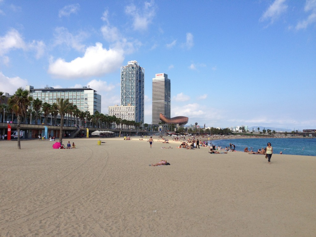 Barcelona, Beach, Spain, Mediterranean Sea