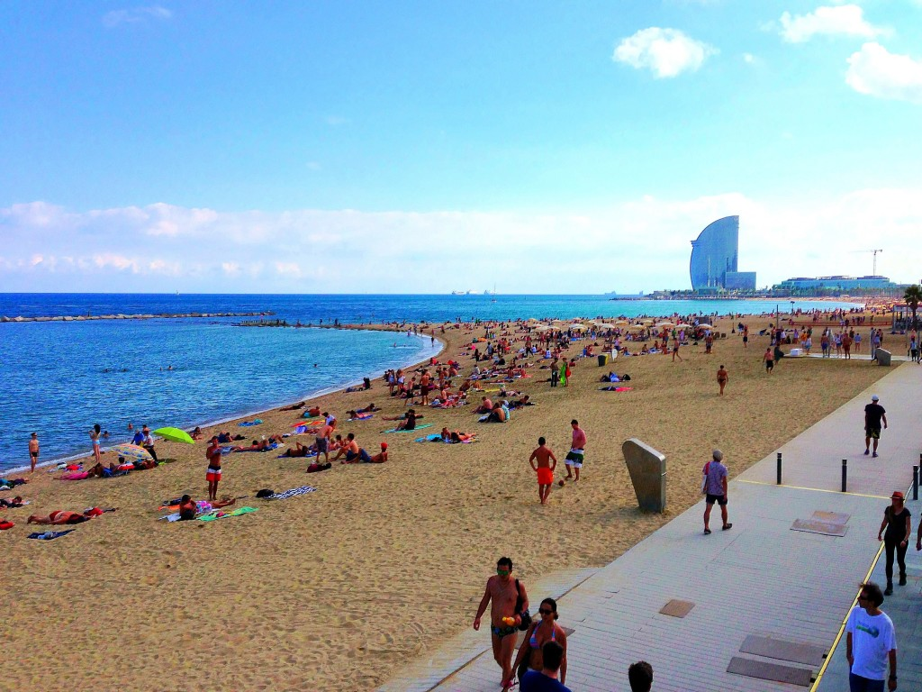 Barcelona, Beach, Spain