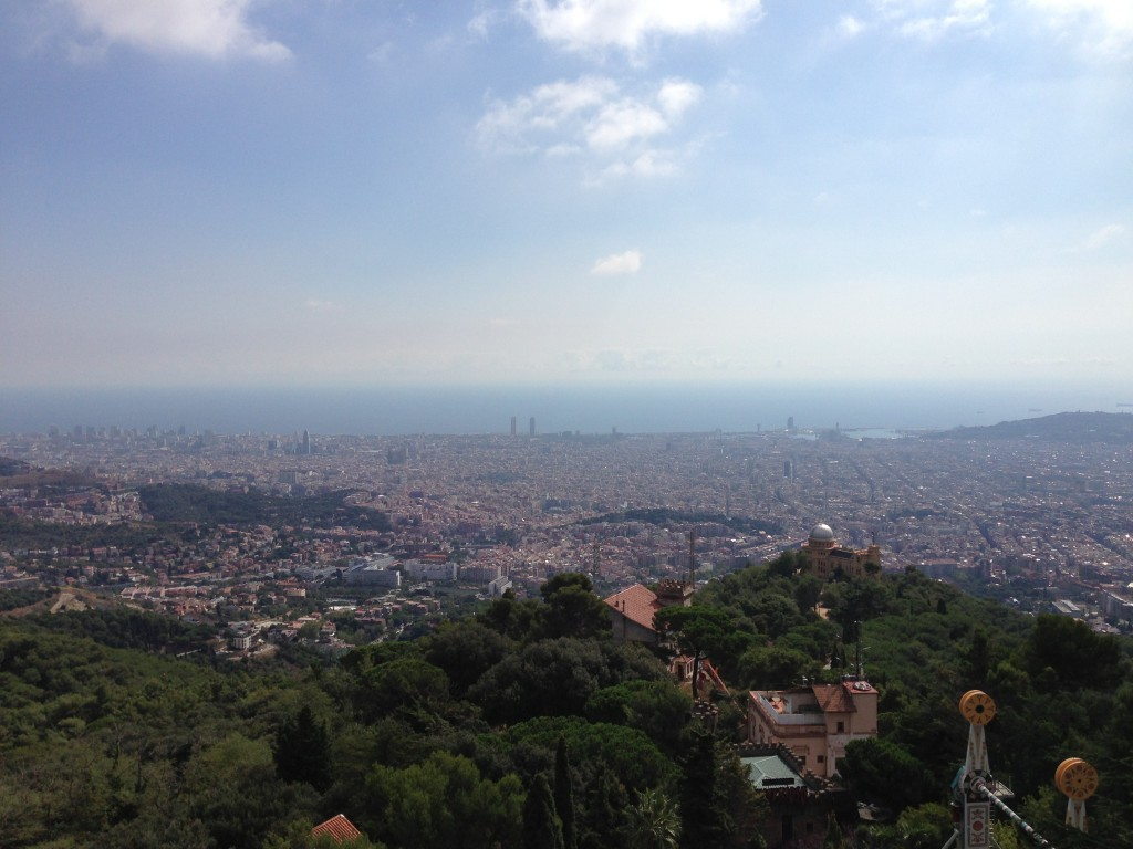 Tibidabo, church, view, Barcelona, Spain, vista, view of Barcelona