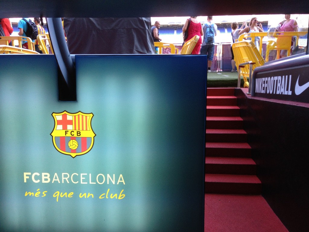 FC Barcelona, Nou Camp, Camp Nou, Camp Nou Experience, Barcelona, Spain, soccer, football, La Liga, on field