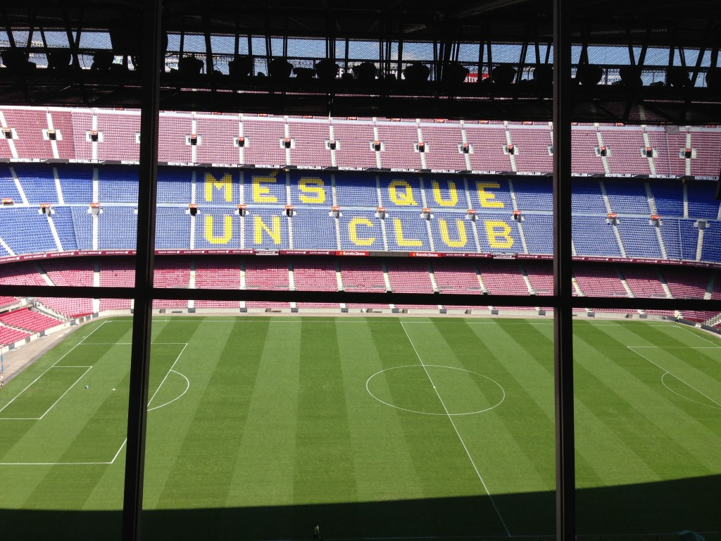 FC Barcelona, Nou Camp, Camp Nou, Camp Nou Experience, Barcelona, Spain, soccer, football, La Liga, press box view