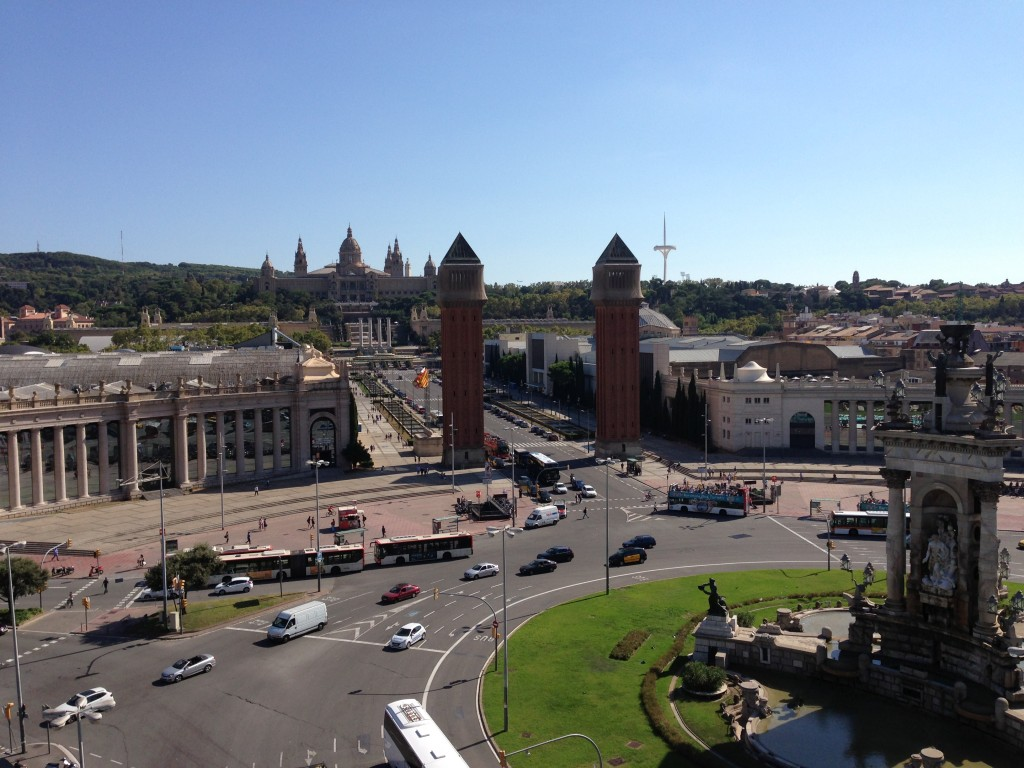 View of Plaza Espana, Barcelona, Spain