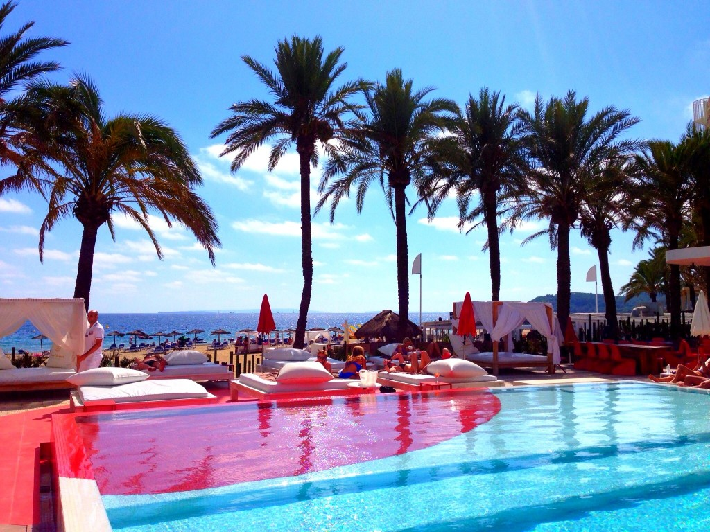 Ibiza, beach, Playa d'en Bossa, Ushuaia Beach Hotel, Spain, Balearic Islands, pool