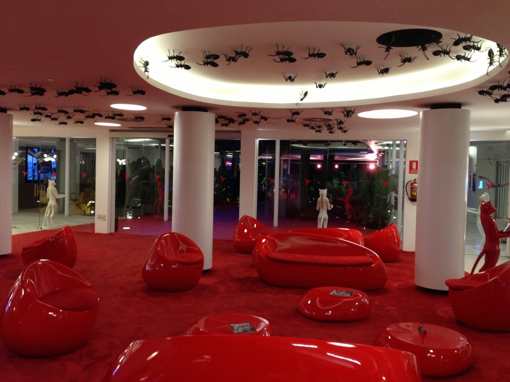 Ibiza, beach, Playa d'en Bossa, Ushuaia Beach Hotel, Spain, Balearic Islands, lobby at Ushuaia Beach Hotel