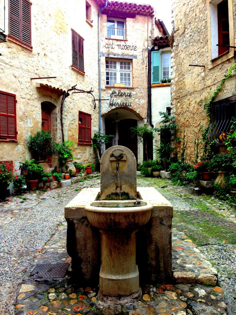 St Paul de Vence, fountain, France