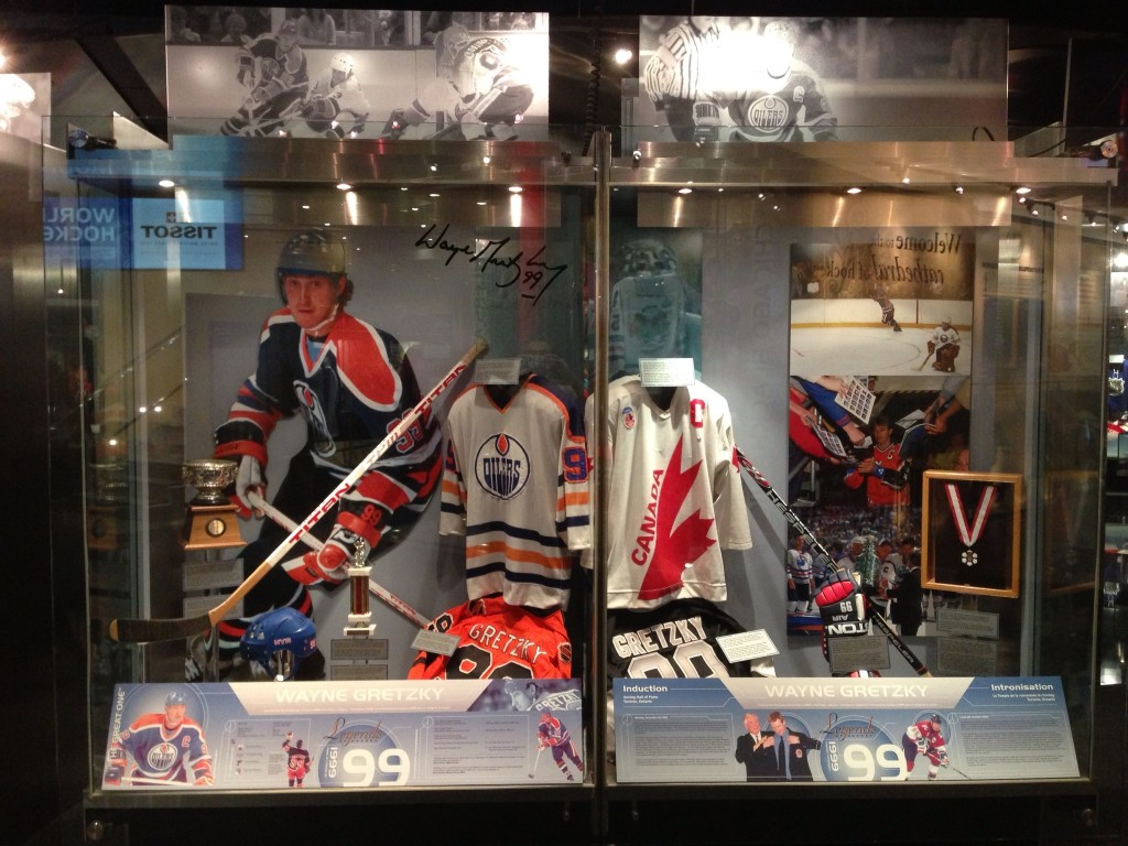 Wayne Gretzky, Hockey Hall of Fame, Toronto, Canada