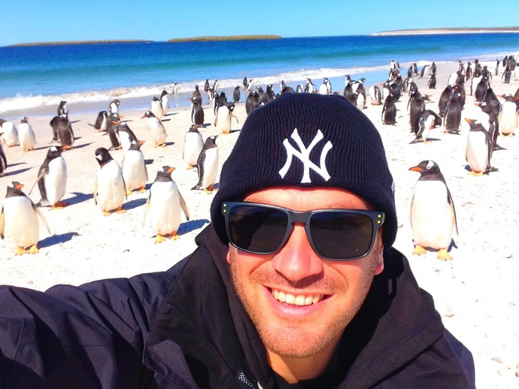 Bleaker Island, Falkland Islands, beach, penguins, gentoo penguins, Lee Abbamonte