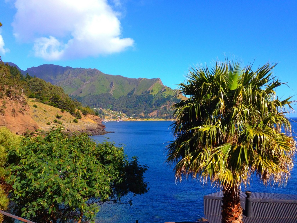 Robinson Crusoe Island, Chile, Crusoe Island Lodge, view