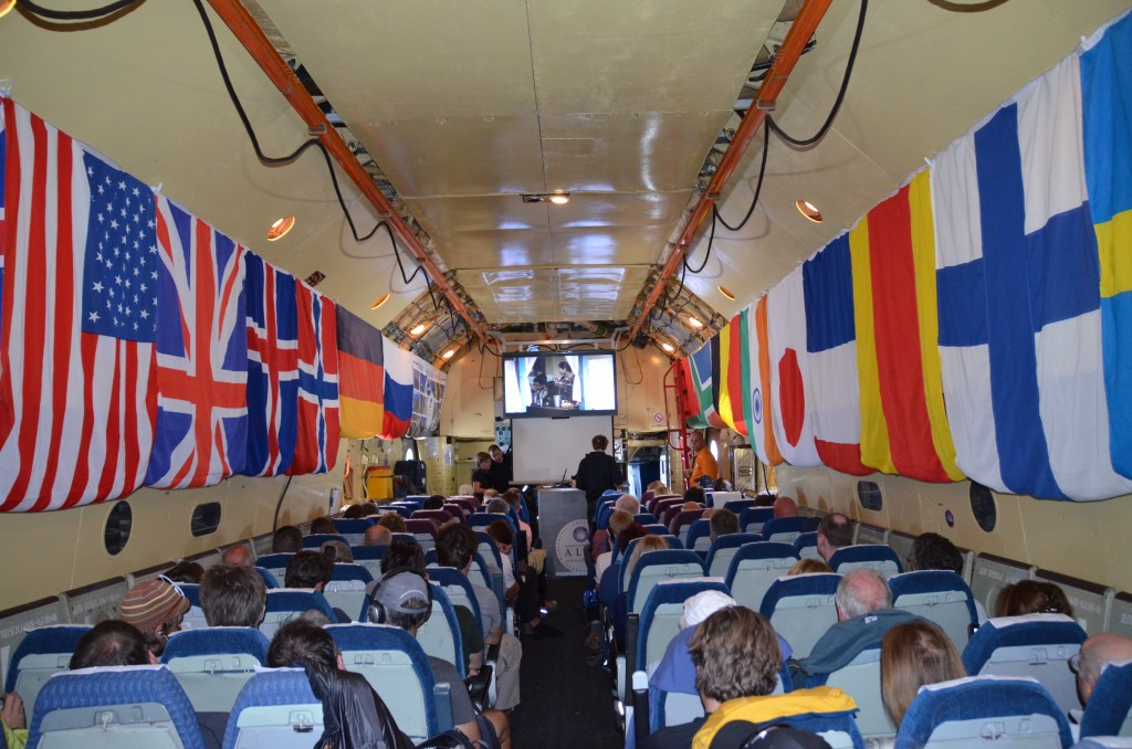 Ilyushin 76, Ilyushin, flight to Antarctica, inside of the cabin
