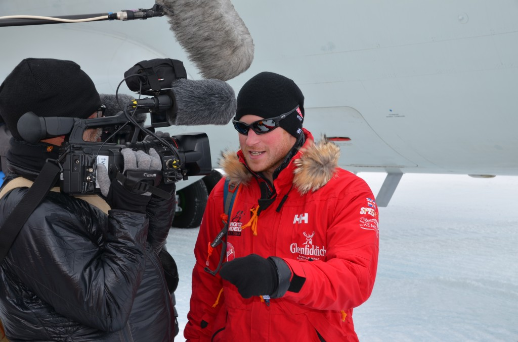 Prince Harry, Prince Harry arrives in Antarctica, Antarctica, Ilyushin 76, TV crew