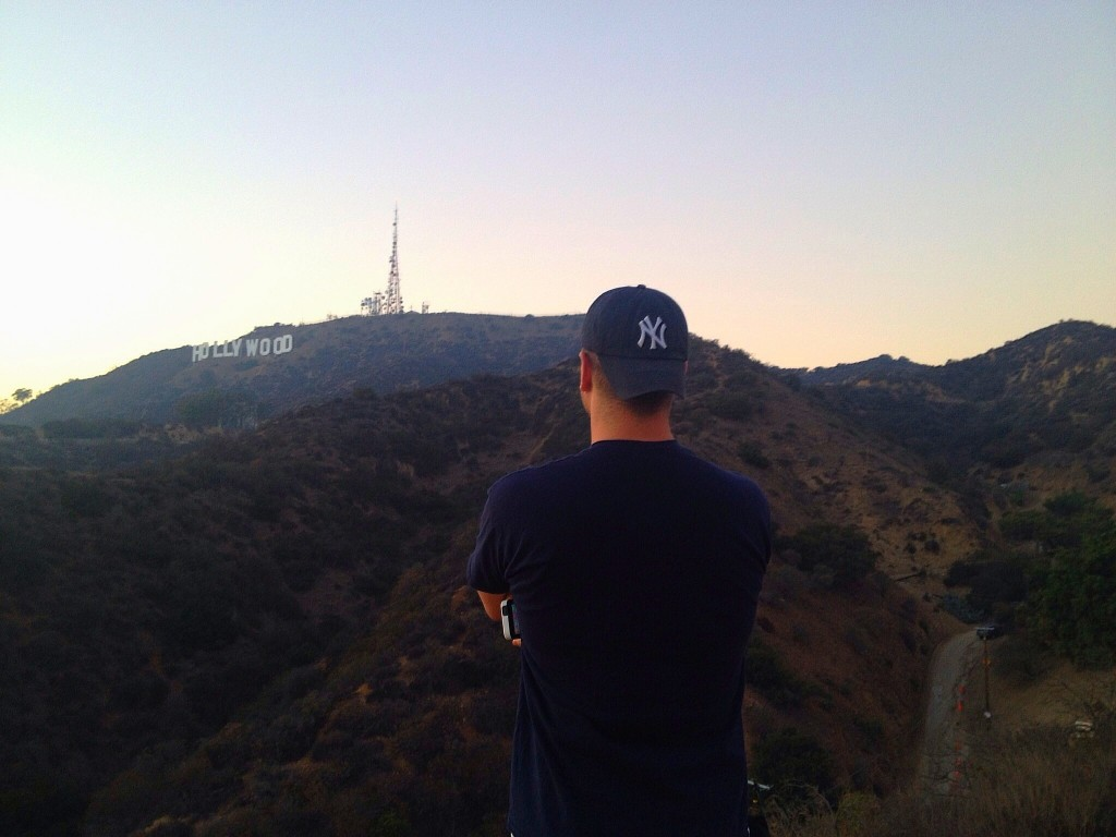 Lee Abbamonte, Hollywood sign hike, Los Angeles, Hollywood