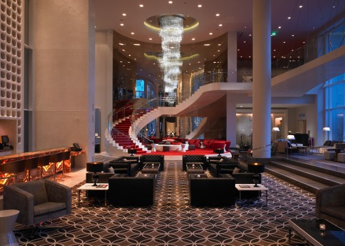 W Hollywood lobby, W Hollywood Hotel, SPG