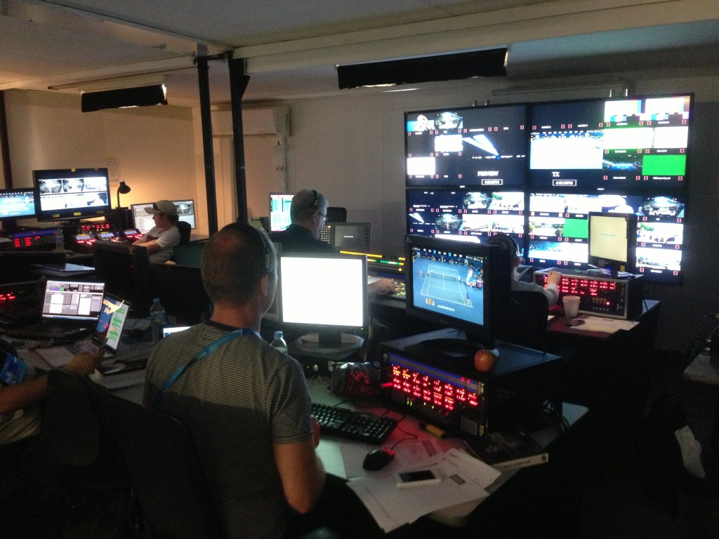 Australian Open, Melbourne, Australia, broadcast center