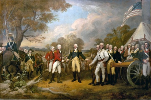 washington accepting surrender