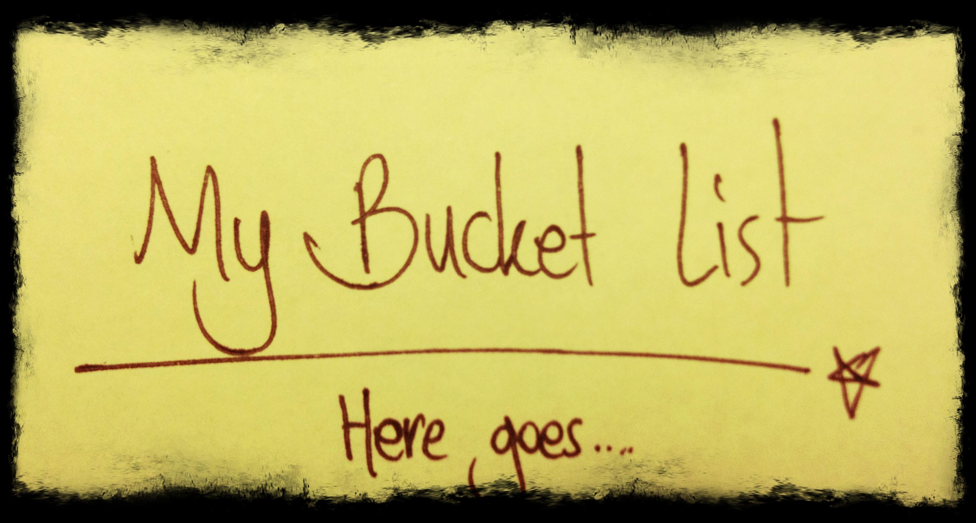Why I Hate the Term Bucket List