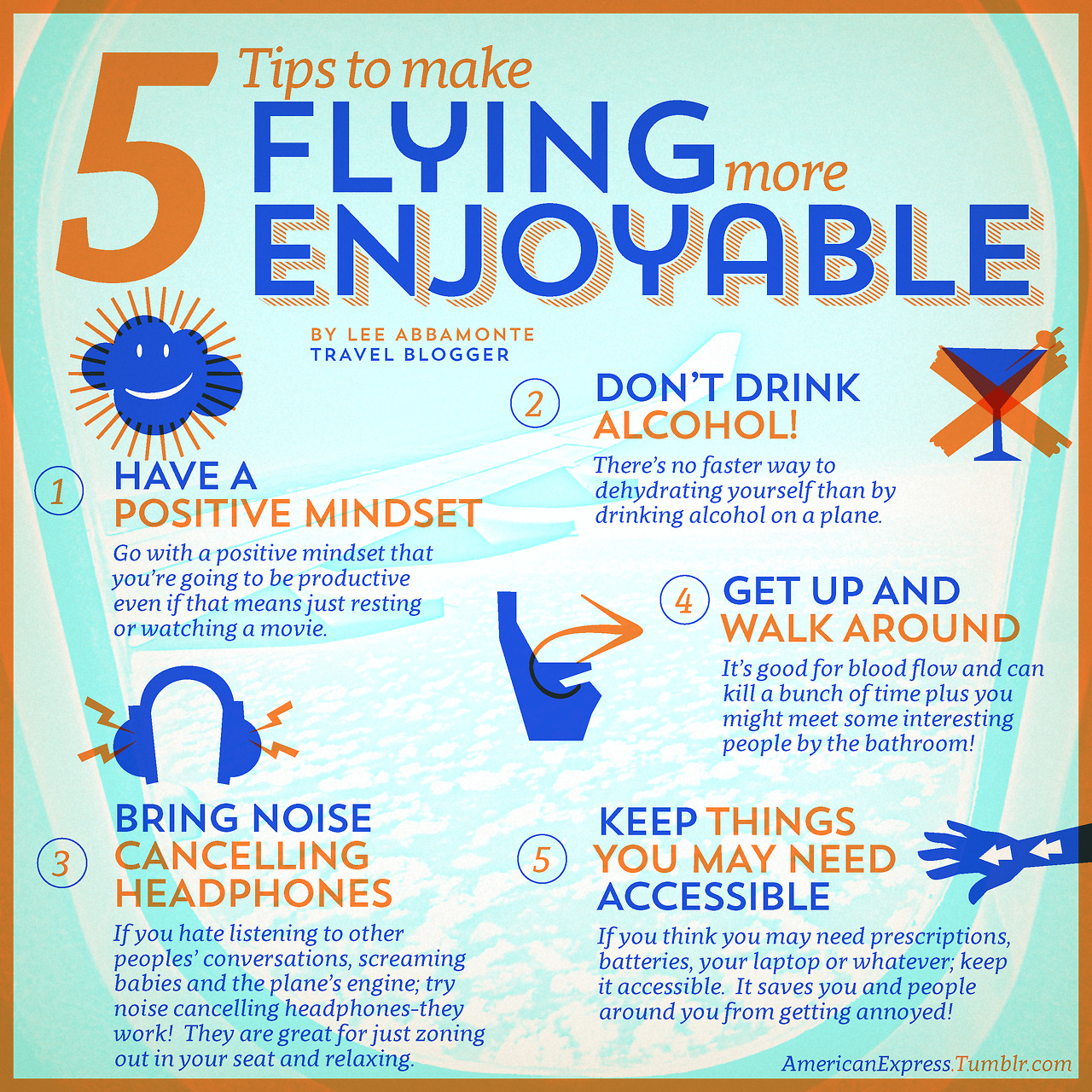 5 Tips to Make Flying More Enjoyable, Lee Abbamonte Tumblr, Amex
