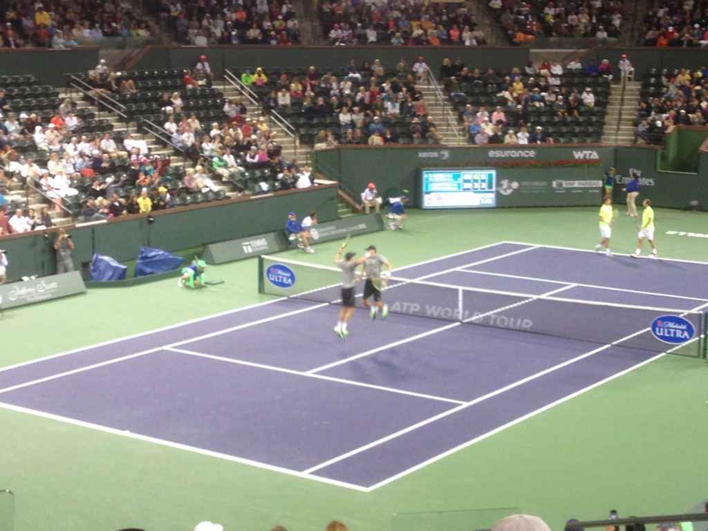 Indian Wells Masters tennis, tennis, Bryan Brothers chest bump