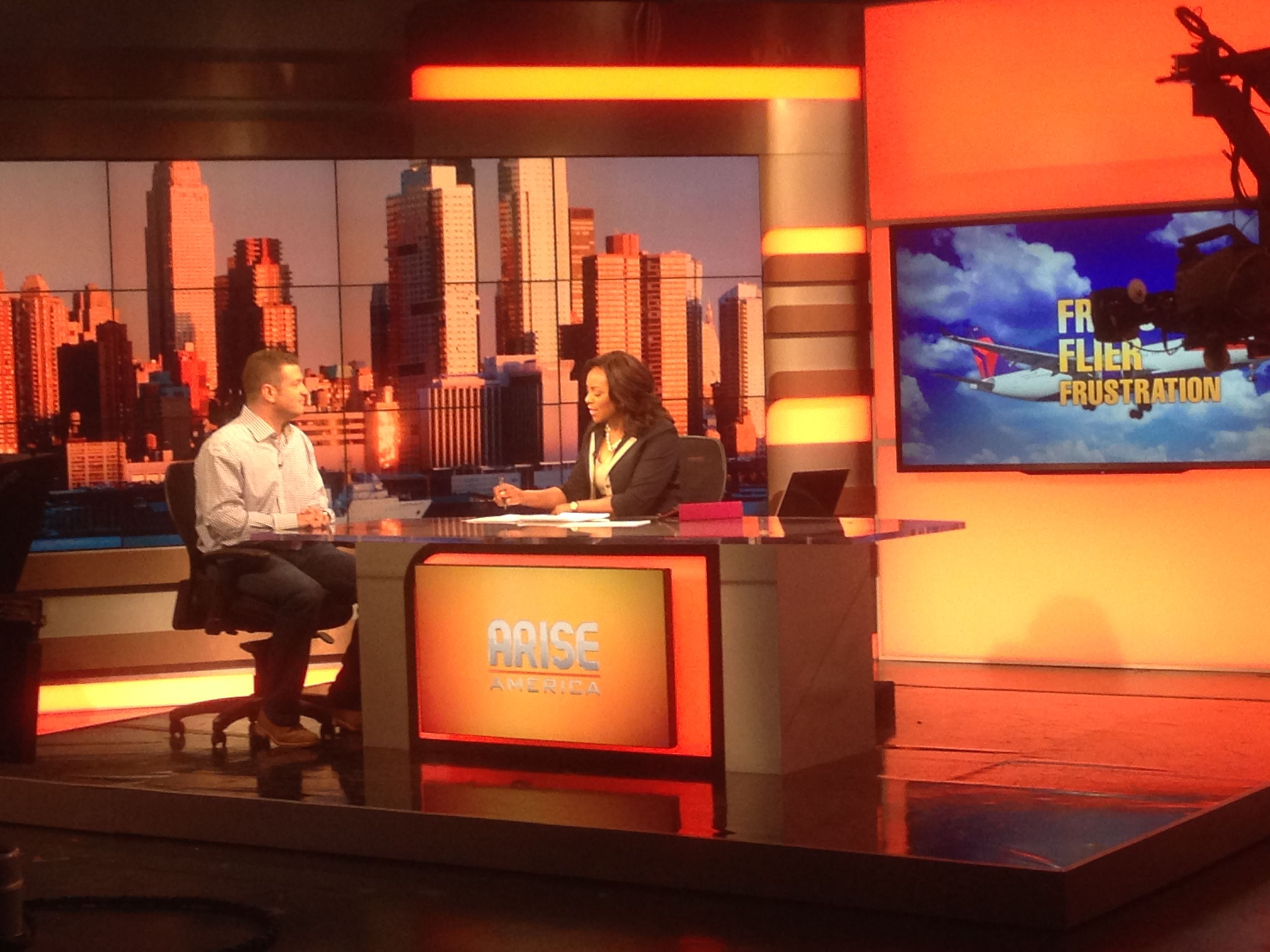 Talking Frequent Flier Miles on Arise America