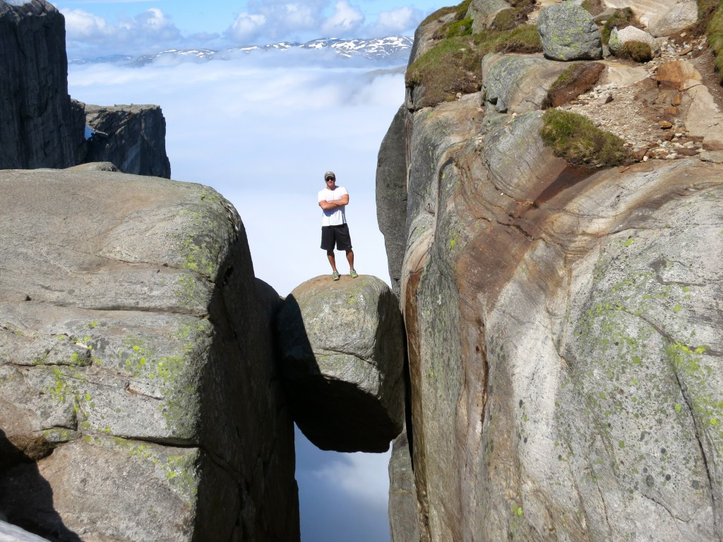 Lee Abbamonte, Kjerag, Kjeragbolten, Norway, fjords, Europe