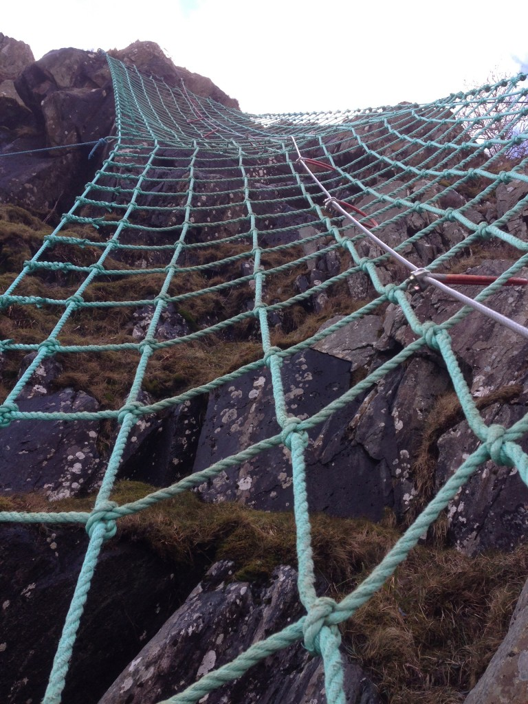 cargo net, Via Ferrata, Cumbria, Keswick, England, Lake District, UK