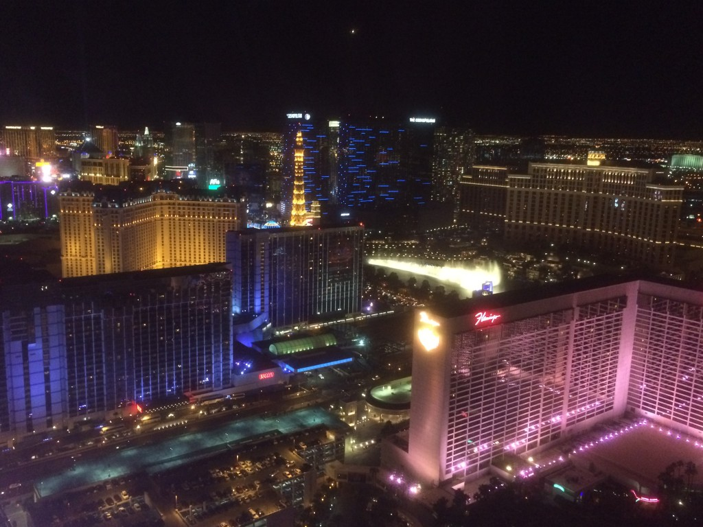 view from high roller, vegas