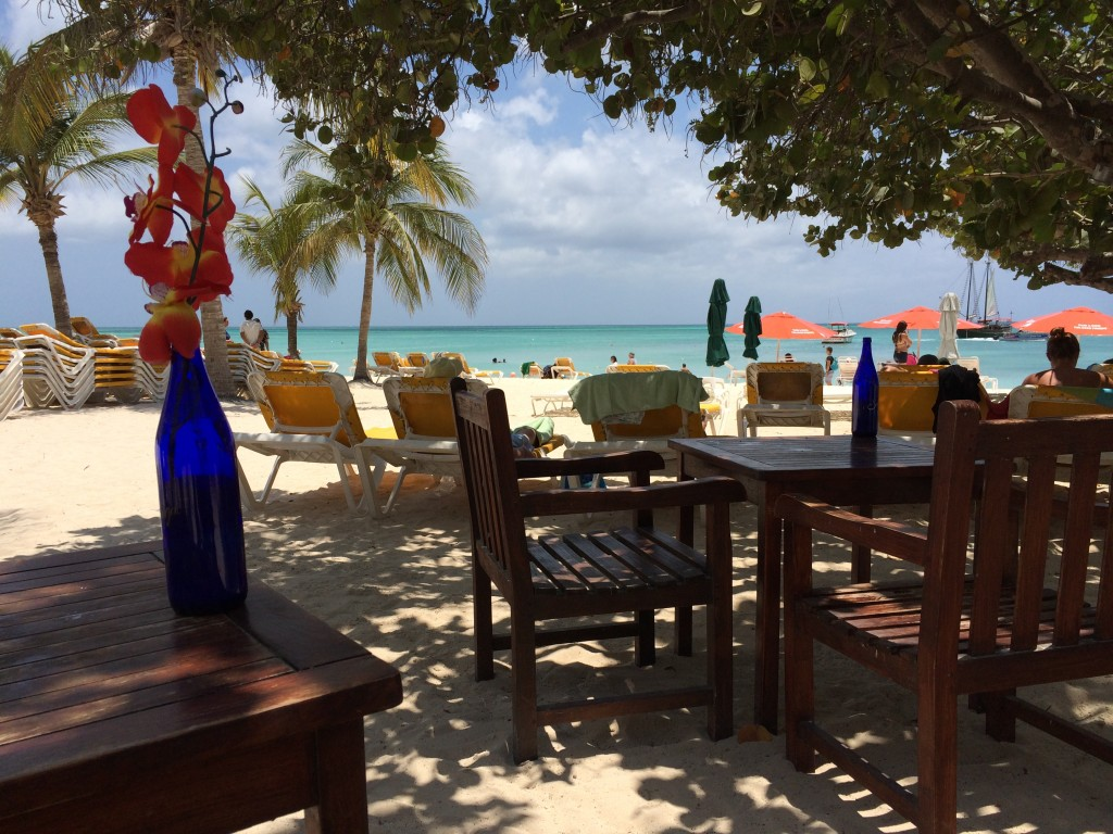 beach, aruba, lunch
